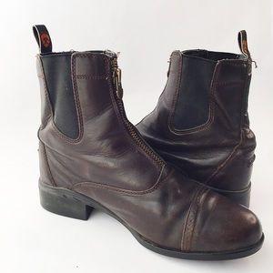 Ariat Brown Heritage Breeze Zip Paddock Boot 8B